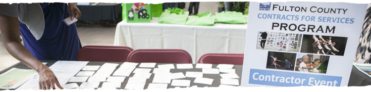 closeup photo of a table with name tahs for a cfs event