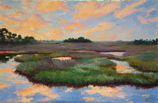 Marsh With Clouds
